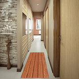 Antislipmat houten planken bruin_