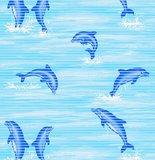 Antislipmat dolfijnen blauw