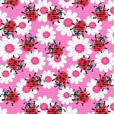 Antislipmat lieveheersbeestjes roze