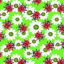 Antislipmat lieveheersbeestjes groen