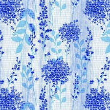 Coupon Antislipmat bloemen blauw (140x65 cm)