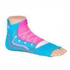 Antislip zwemsokken Sweakers blauw/roze maat 35-38