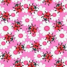 SALE coupon antislipmat lieveheersbeestjes roze 200x65cm