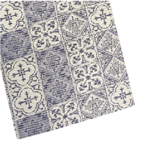 SALE coupon antislipmat barok blauw 75x65cm