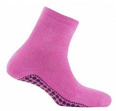 Antislip sokken huissokken donker-roze