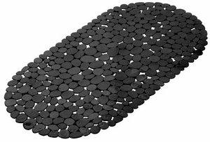Antislip badmat zwart 68x35cm