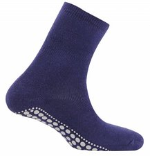 Antislip sokken huissokken marine blauw
