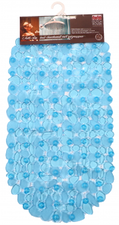 Antislip badmat blauw 68x35 cm