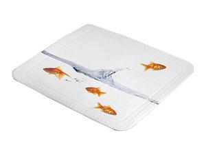 Antislip douchemat goudvis 55x55 cm