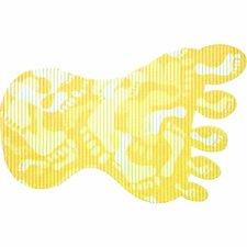 Antislip badmat voet 70x43 cm geel