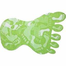 Antislip badmat voet 70x43 cm groen