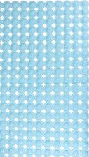 Antislip badmat bubbel blauw 77x45 cm