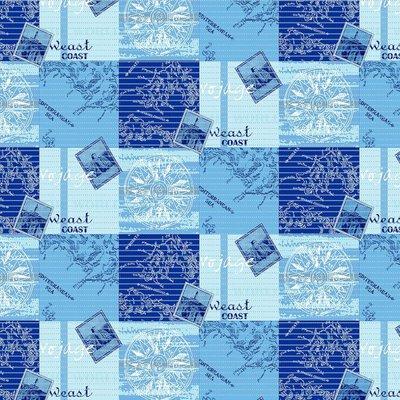 Antislipmat zee print blauw