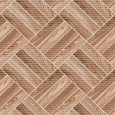 Antislipmat houten vloer blokken bruin