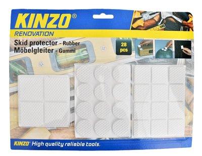 Antislip meubel en vloer beschermers wit kinzo