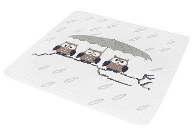 Antislip douchemat uiltjes 55x55 cm