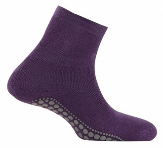 antislip sokken paars