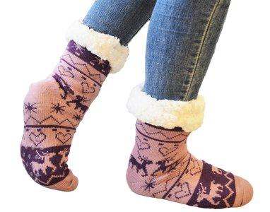 Antislip sokken lila-paars