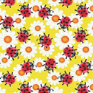 Antislipmat lieveheersbeestjes geel