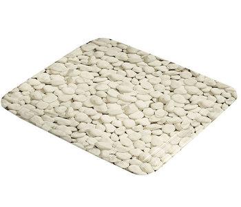 Antislip douchemat beige stenen